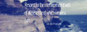 Respect for the interdependent web of all existence of which we are a part.