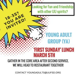 YA group lunch on First Sundays